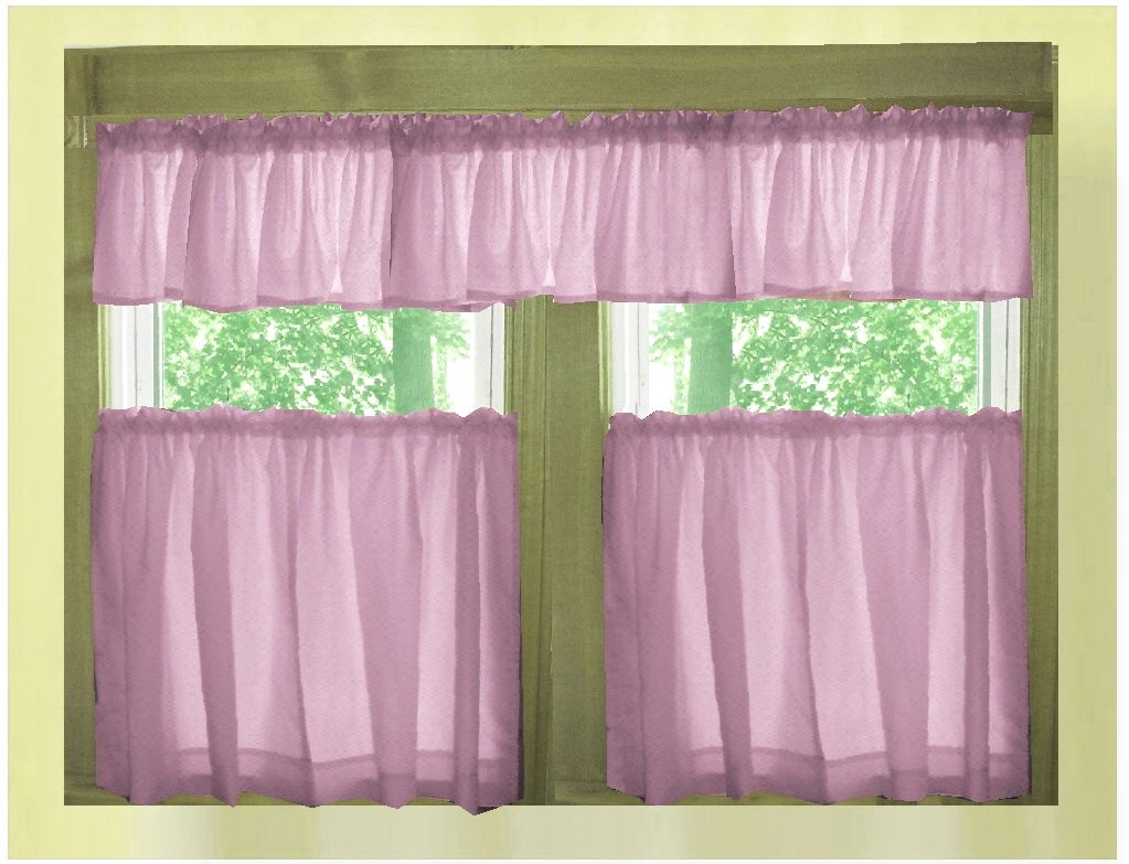 Kitchen cafe curtains - Violet Purple Green Cafe Curtains