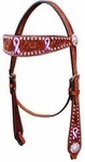 Bar H Passionately Pink Browband Headstall