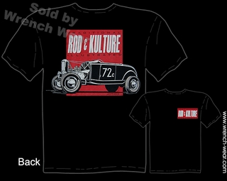 Hot Rod Shirt 1932 Ford T Shirt 32 Roadster Rod & Kulture Bonneville Tee
