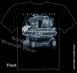 32 Hot Rod T Shirt 1932 Roadster Ford Tee Flamin' Deuces Vintage Car Clothing