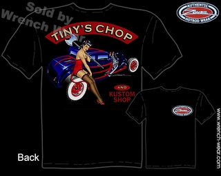 Hot Rod Clothing 1932 Ford T Shirt 32 Coupe Tiny's Chop Pin Up Shirts