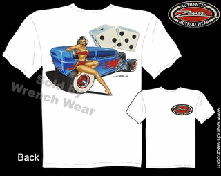 Hot Rod Apparel 1932 Pin Up T Shirts 32 Tudor Sedan Vintage Car Tee