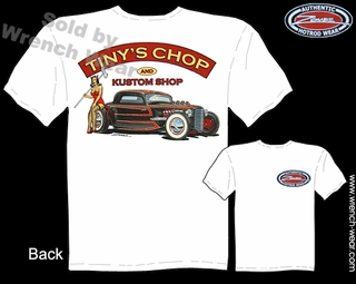 Hot Rod Shirts 1933 1934 Ford Tee 33 34 Coupe Tiny's Chop Pin Up Tshirts