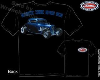 Hot Rod Tshirt 33 34 Ford Tee Shirts 1933 1934 5 Window Coupe Zombie Hotrod Wear