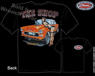 1955 Chevy Shirt 55 Chevrolet T Shirt Vintage Drag Racing Tee Pin Up Shirt