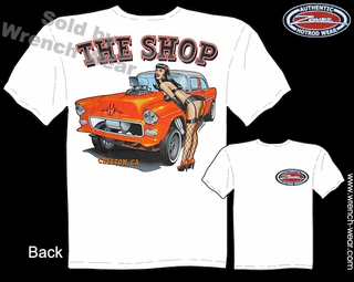 Chevy Racing Shirts 1955 Chevrolet Tee 55 Gasser T Shirts Pin Up Shirt