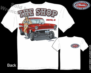 Chevy Racing Tee 1957 Gasser T Shirts Pin Up Hot Rods 57 Chevrolet Clothes