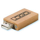 Flash Memory Drive - USB 2.0 w/ Custom Imprint (Style Bamboo)