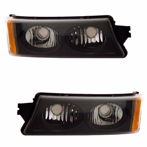 Chevy Silverado 03-06 Signal Lights Crystal Black Amber - Click to enlarge