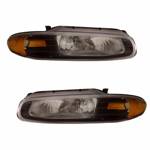 Chrysler Sebring 96-00 Head Light Convertible Black Amber - Click to enlarge