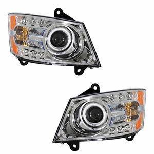 Dodge Grand Caravan 08-09 Head Light Halo Chrome Clear Amber (CCFL) - Click to enlarge