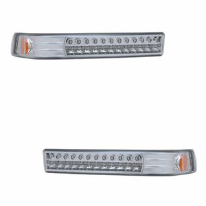 Chevy S10 / Blazer 98-04 L.E.D Parking / Signal Lights All Chrome Amber - Click to enlarge