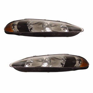 Dodge Intrepid 98-04 Crystal Head Light Black Amber - Click to enlarge