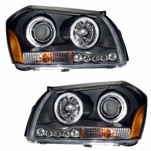 Dodge Magnum (2.7l/3.5l Eng) 05-07 Projector Head Light Black Clear Amber - Click to enlarge