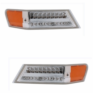 Jeep Patriot 07-08 Park / Signal Lights L.E.D All Chrome Amber - Click to enlarge
