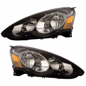 Acura RSX 02-04 Head Light Black Amber - Click to enlarge