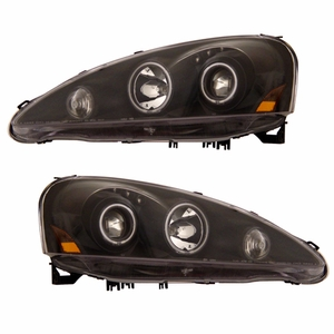 Acura RSX 05-06 Projector Head Light Halo Black Clear Amber(CCFL) - Click to enlarge