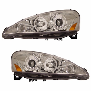Acura RSX 05-06 Projector Head Light Halo Chrome Clear Amber(CCFL) - Click to enlarge
