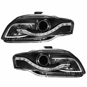 Audi A4 05-09 Projector Head Light Black Clear(R8 LED Style) - Click to enlarge
