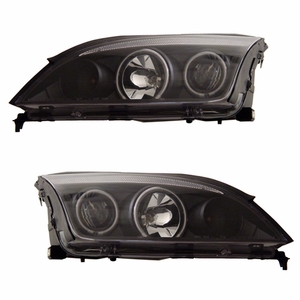 Ford Focus Zx4 05-07 Projector Head Light 4DR Halo Black Clear(CCFL) - Click to enlarge