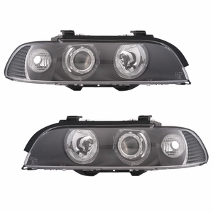 Bmw 5 Series E39 95-01 Projector Head Light Halo Black Clear Amber Reflector - Click to enlarge