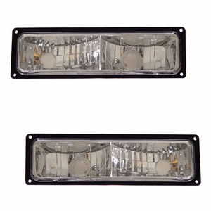 Chevy Full Size 88-98 Pack / Signal Lights Black Frame - Click to enlarge