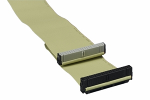 24 Inch Dual Device Ultra ATA-100/133 Ribbon Cable TPO 80 Conductors - Click to enlarge