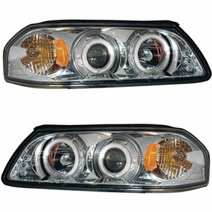 Chevy Impala 00-05 Projector Head Light Halo Chrome Clear Amber(CCFL) - Click to enlarge