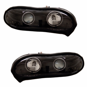 Chevy Camaro 98-02 Projector Head Light Halo Black Clear (CCFL) - Click to enlarge