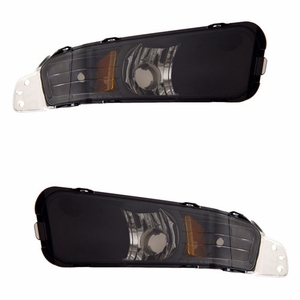 Ford Mustang 05-09 Park / Signal Lights Black Amber - Click to enlarge