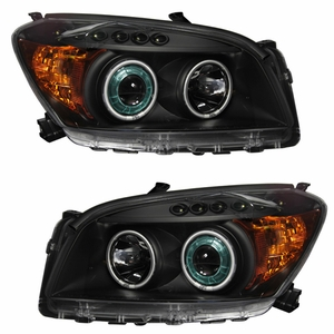 Toyota Rav-4 09 Up Projector Head Light Black Clear Amber(CCFL) - Click to enlarge