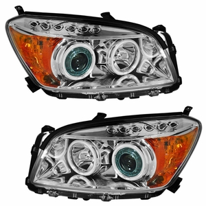 Toyota Rav-4 09 Up Projector Head Light Chrome Clear Amber(CCFL) - Click to enlarge