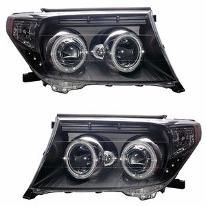 Toyota Land Crusier 08 Up Head Light Halo Black Housing Amber(CCFL) - Click to enlarge