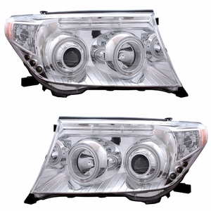 Toyota Land Crusier 08 Up Head Light Halo Chrome Housing Amber(CCFL) - Click to enlarge