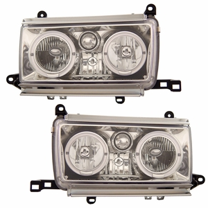 Toyota Land Crusier FJ 82 91-94 Head Light Halo Chrome - Click to enlarge