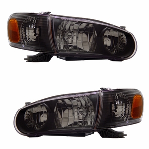Toyota Corolla 01-02 Crystal Head Light Black Amber with Corner Light - Click to enlarge