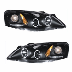 Pontiac G6 05-10 Projector Head Light Halo Black Clear Amber(CCFL) - Click to enlarge