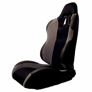 Turino Sport Series - Sport Car Racing Seat (Indy) Black / Grey (Right) - Click to enlarge
