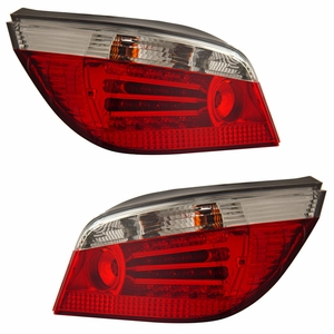 BMW 5 Series E60 04-07 L.E.D Tail Light Red / Clear - Click to enlarge