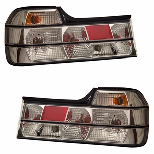 BMW 7 Series E32 88-94 Tail Light All Chrome - Click to enlarge