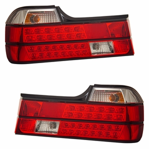 BMW 7 Series E32 88-94 L.E.D Tail Light Red / Clear - Click to enlarge