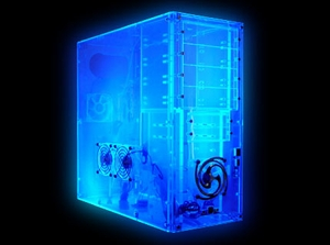 Assembled UV Blue Acrylic Clear Case - Click to enlarge