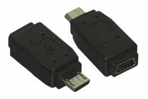 USB Micro-B Male to Mini B 5-Pin Female Adapter - Click to enlarge