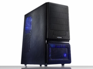 Soho 2 All Black Tool Less ATX Case w/ 480W PS - Click to enlarge