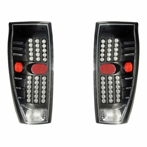 Chevy Avalanche 02-06 L.E.D Tail Light Black - Click to enlarge