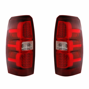 Chevy Avalanche 07-08 L.E.D Tail Light Red / Clear - Click to enlarge