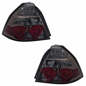 Chevy Aveo 07-Up L.E.D Tail Light Smoke - Click to enlarge