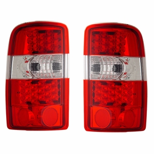 Chevy Tahoe / Suburban / G.M.C Denali 00-06 L.E.D Tail Light Red / Clear - Click to enlarge