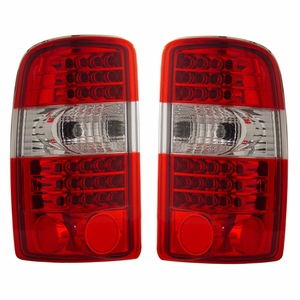 Chevy Tahoe / Suburban / G.M.C Denali 00-06 L.E.D Tail Light G2 Red / Clear - Click to enlarge