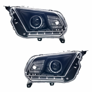 Ford Mustang 10 Up Projector Head Light Halo Smoke Clear(Black Housing) (CCFL) - Click to enlarge